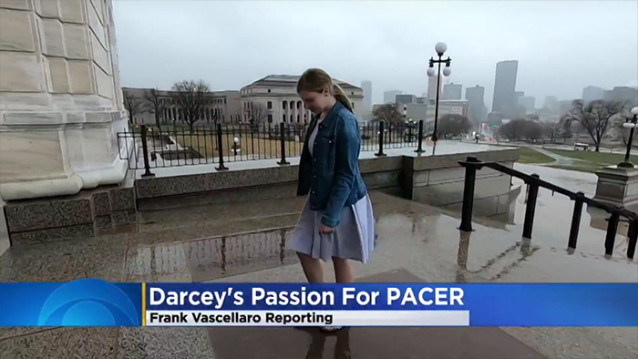 Darcey's Passion for PACER, Frank Vaccellero Reporting