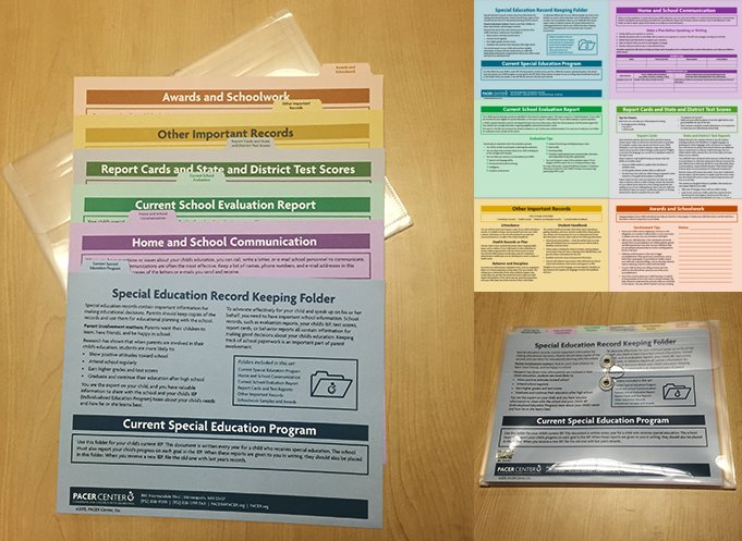 Special Education School Record Keeping Folders